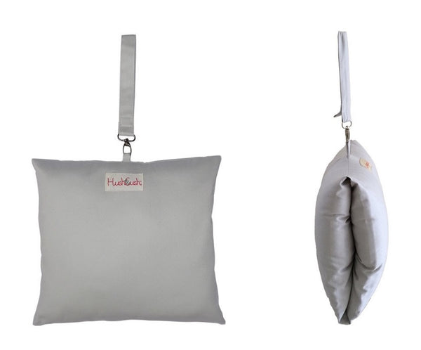 HushCush Nursing Arm Pillow silver grey