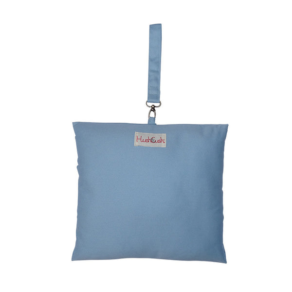 HushCush blue nursing pillow