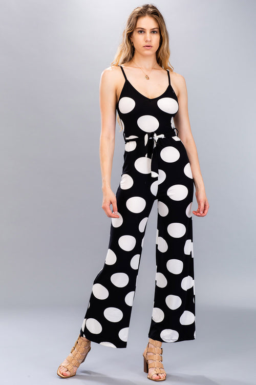 Polka Dot Jumpsuit - BP2272 - Capella Apparel