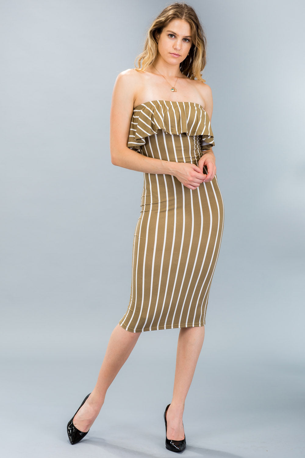 Ruffle Tube Dress - BD2060 - Capella Apparel