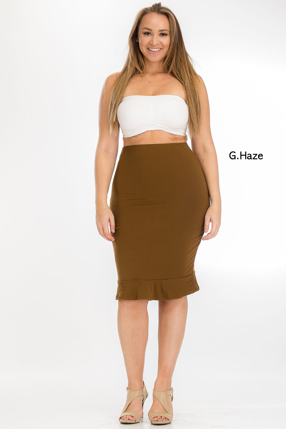 Skirt - BS2174X (Plus Size) - Capella Apparel