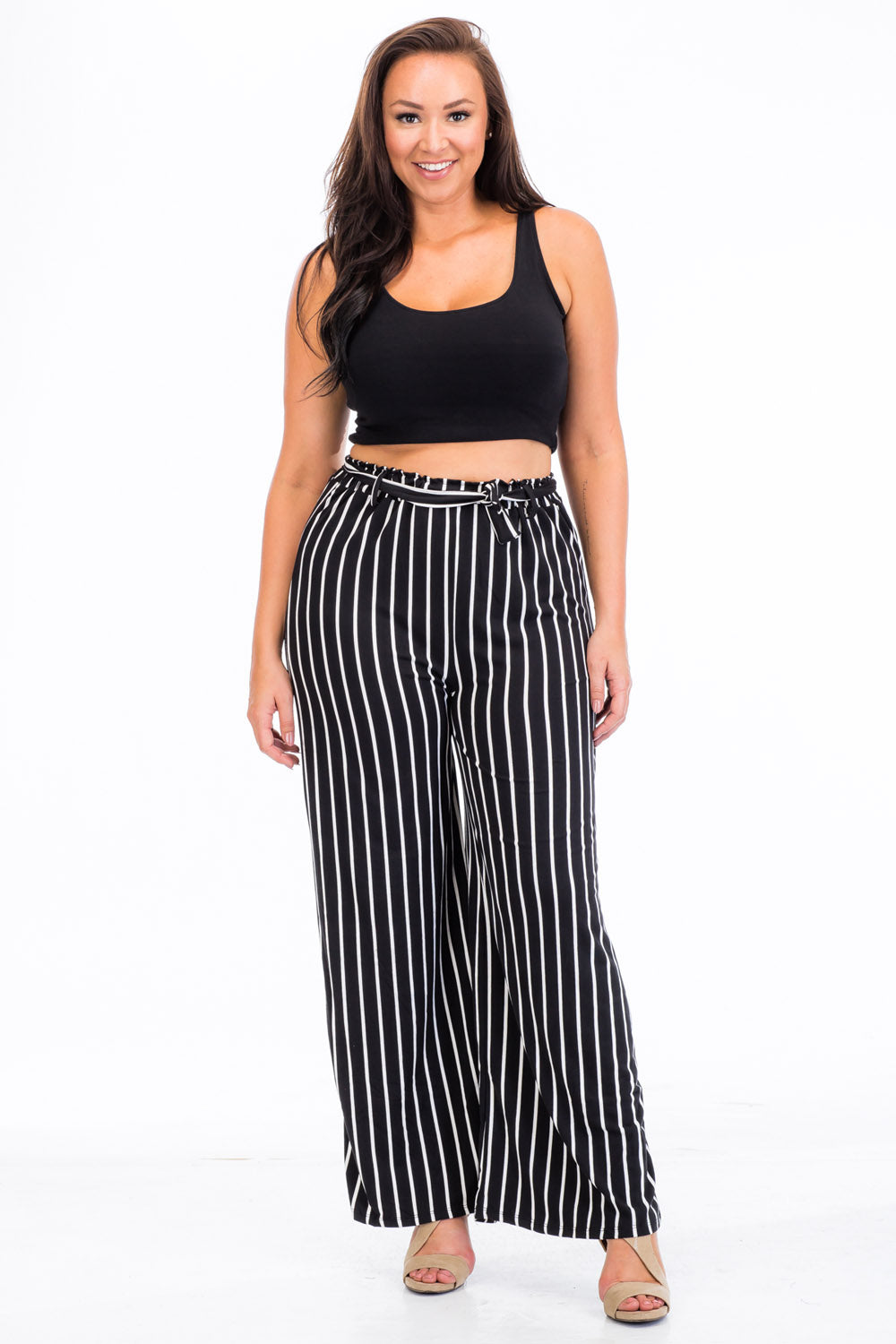 Wide Leg Pants - BP2158X (Plus Size) - Capella Apparel