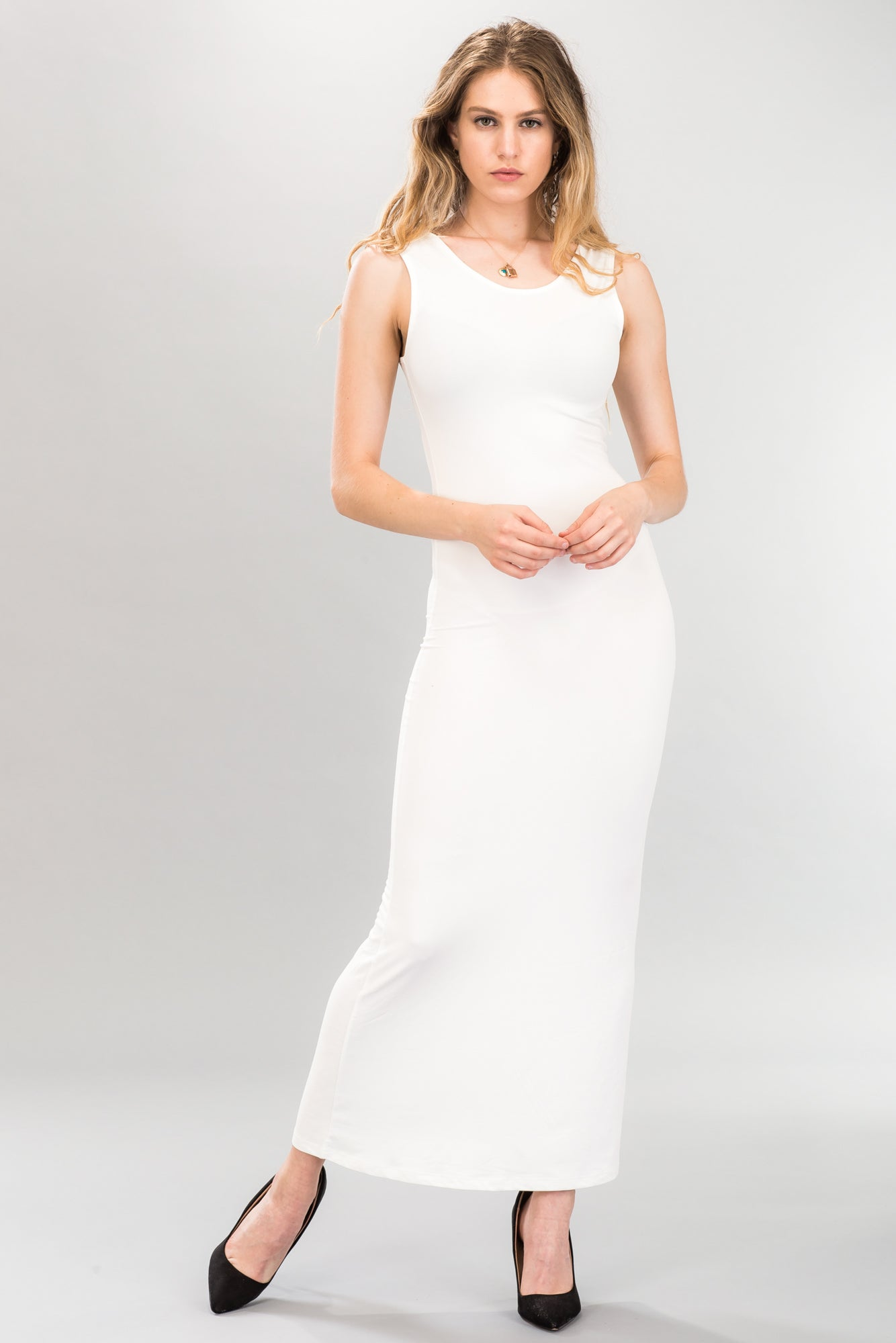 Lace-up Back Maxi Dress - BD2245 - Capella Apparel