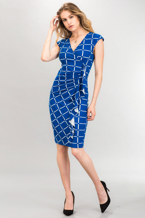Grid Dress - BD2201 - Capella Apparel