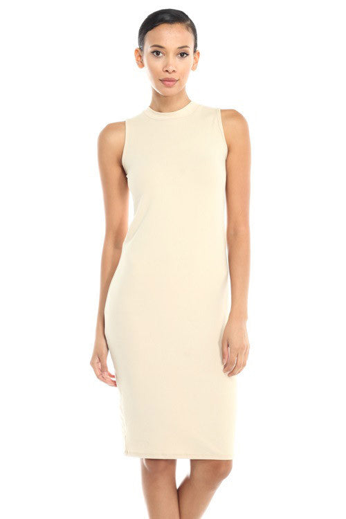 Mock Neck Dress - BD1744 - Capella Apparel