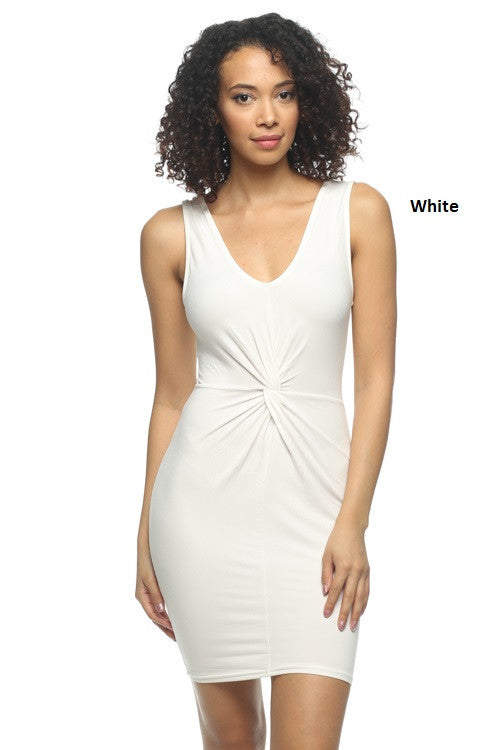 Front Twist Dress - BD1870 - Capella Apparel