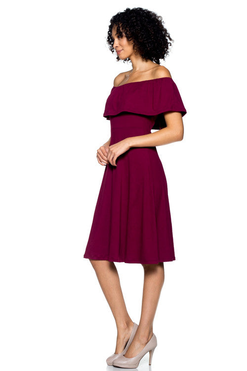 Off Shoulder Dress - BD1967 - Capella Apparel