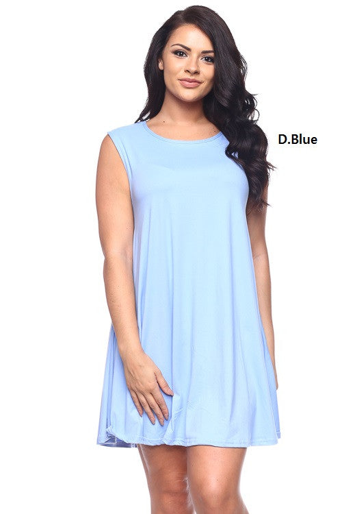 Trapeze Dress - BD1937X (Plus Size) - Capella Apparel