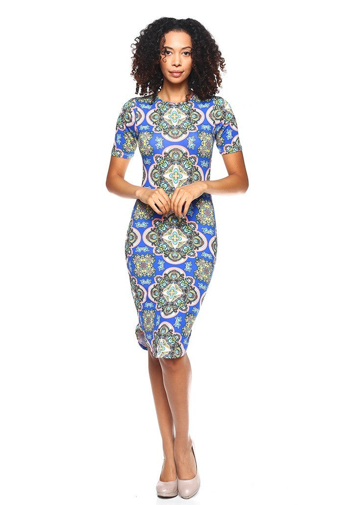 Curved-Hem Dress - BD1940 - Capella Apparel
