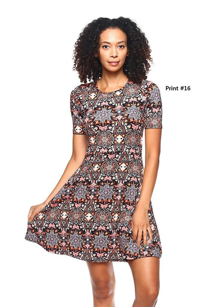 Fit Flare Dress - BD1879 - Capella Apparel