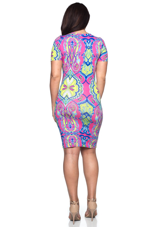 Midi Dress - BD1802X (Plus Size) - Capella Apparel