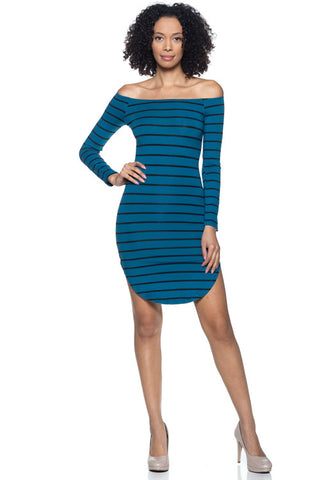 Tank Stripe Bodycon Dress - BD1957