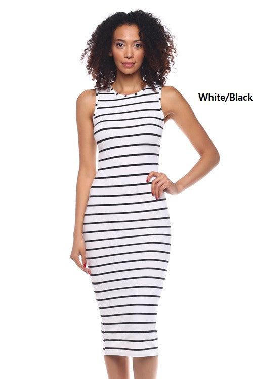 Tank Stripe Bodycon Dress - BD1957 - Capella Apparel