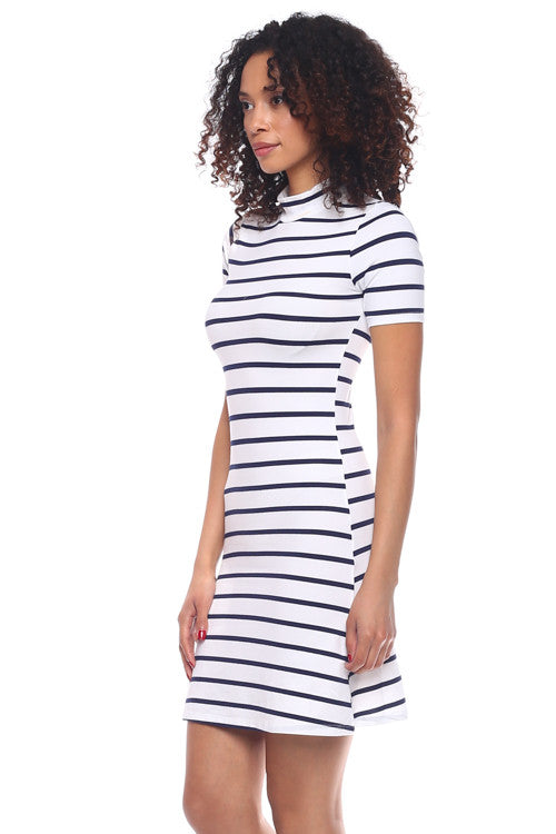 Mock Neck Dress - BD1953 - Capella Apparel