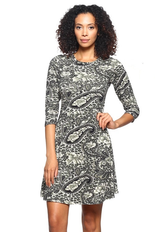 Fit Flare Dress - BD1813 - Capella Apparel