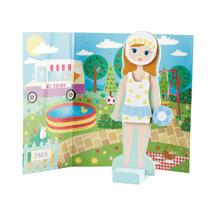 Wooden Magnetic Dress Up Doll - Elsie