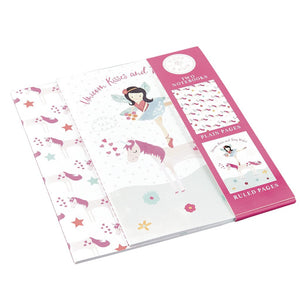 Notebooks Set of 2 Fairy Unicorn