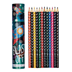 Coloured Pencils 12 Pack - Rocket