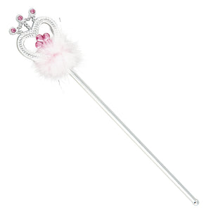 Dress Up Flower Jewel and Feather Wand