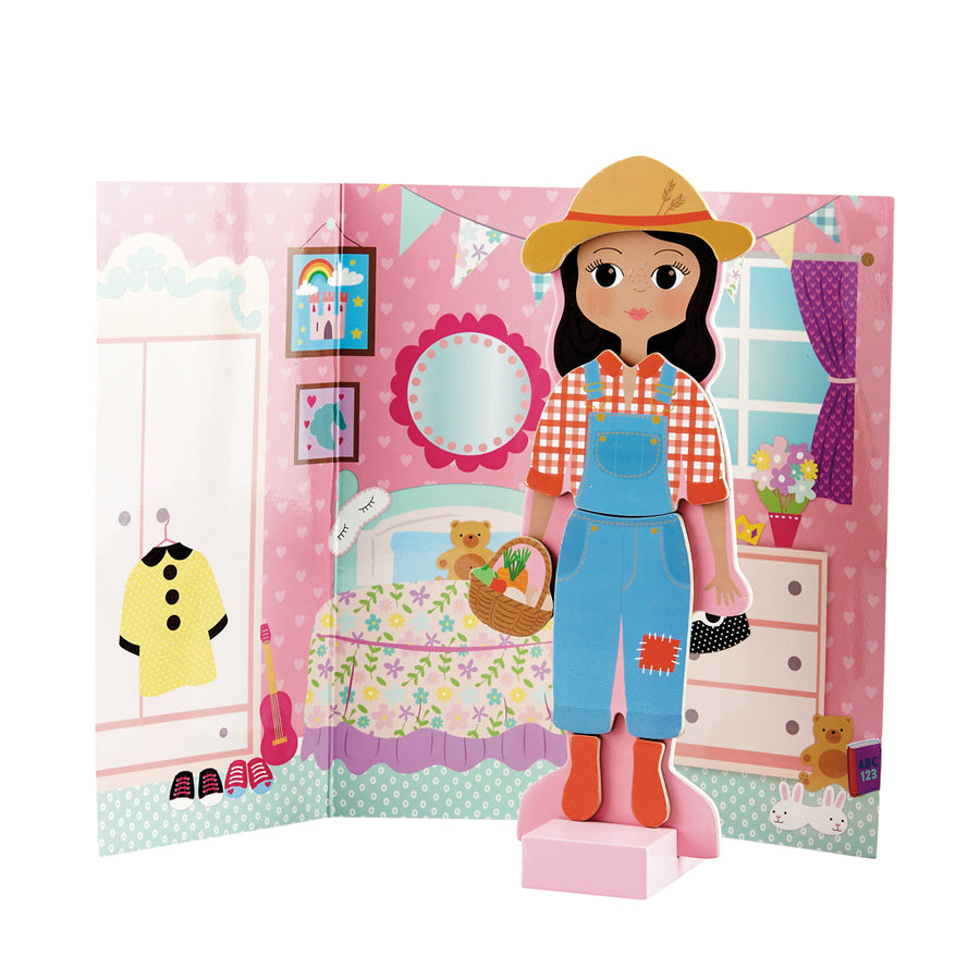Wooden Magnetic Dress Up Doll Sophia
