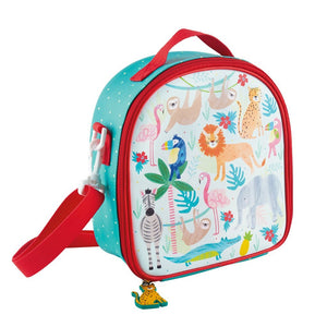 Jungle Lunch Bag with Detachable Strap and Bottle Holder