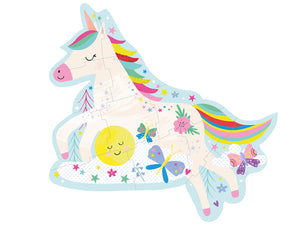 12 Piece Shaped Jigsaw in Shaped Box - Rainbow Unicorn