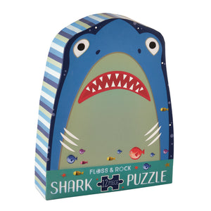 12 Piece Shaped Jigsaw in Shaped Box - Shark