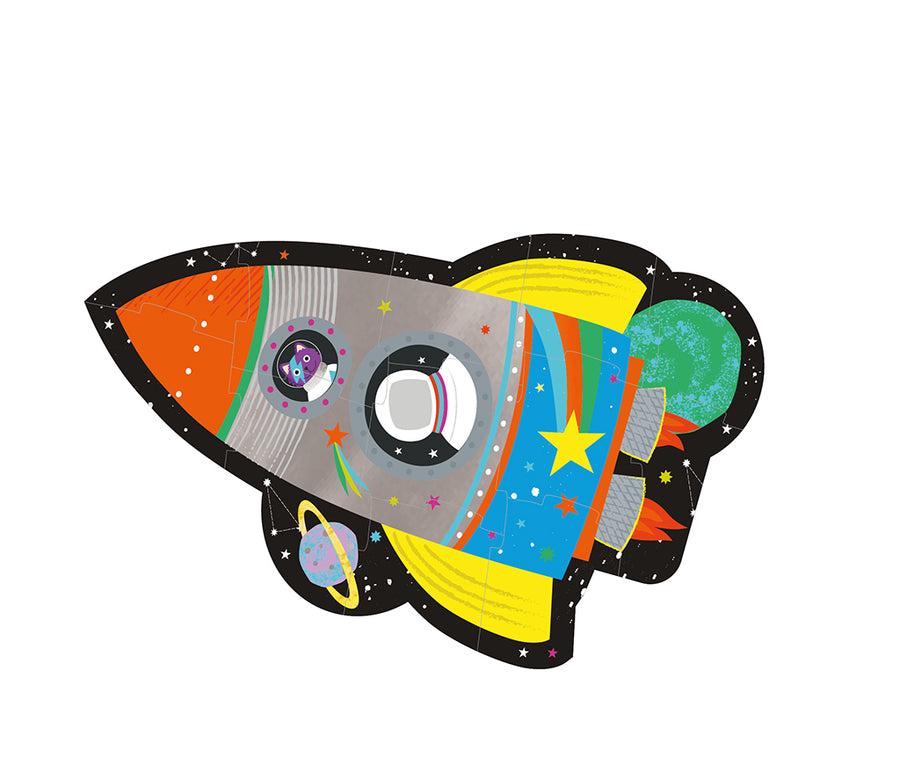 Rocket 12 Piece Shaped Jigsaw in Shaped Box