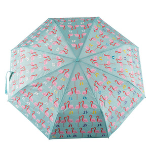 Big Kids Colour Changing Umbrella - Flamingo
