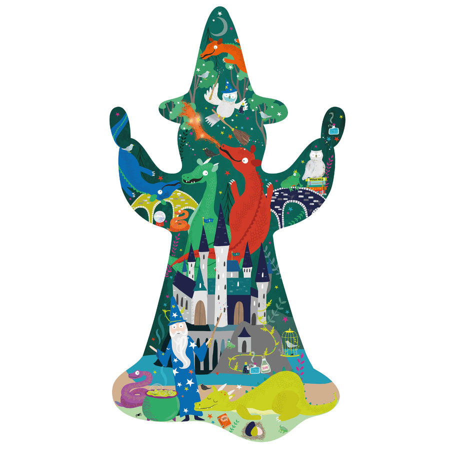 "80 Piece ""Wizard"" Shaped Jigsaw with Shaped Box - Spellbound"