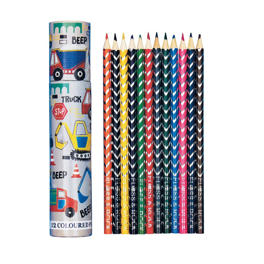 Coloured Pencils 12 Pack - Construction