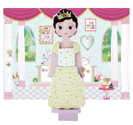 Wooden Magnetic Dress Up Doll Charlotte