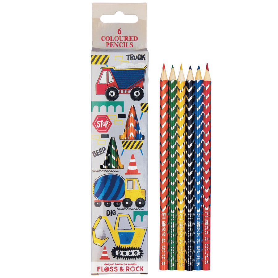 Coloured Pencils 6 Pack - Construction