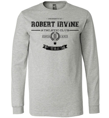 *NEW* Robert Irvine Athletic Club - Grey - Longsleeve (Youth, Mens, Ladies)