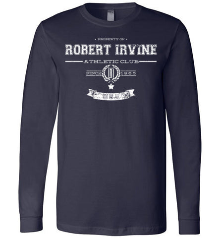 *NEW* Robert Irvine Athletic Club - White Logo - Longsleeve (Youth, Mens, Ladies)