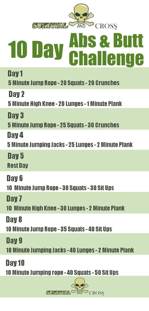 10 Day Gut And Butt Workout Challenge