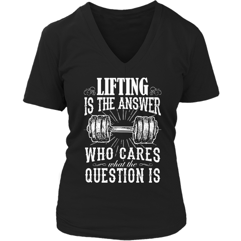 Limited Edition - Hoodie - Lifting is The Answer who care what the Question is