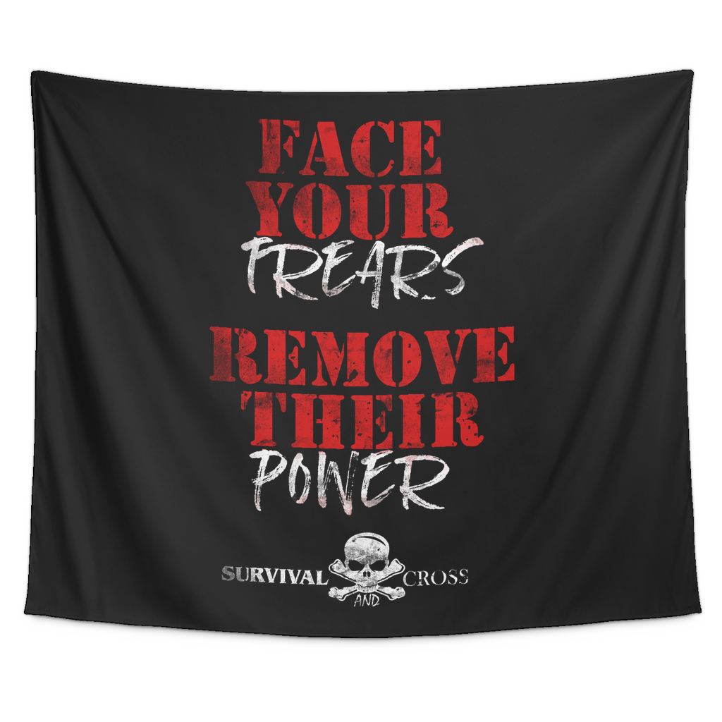Motivational Gym Tapestry - Face Your Fears