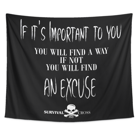 Motivational Gym Tapestry - If It's Important To You
