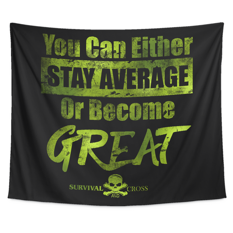 Motivational Gym Tapestry - Become Great