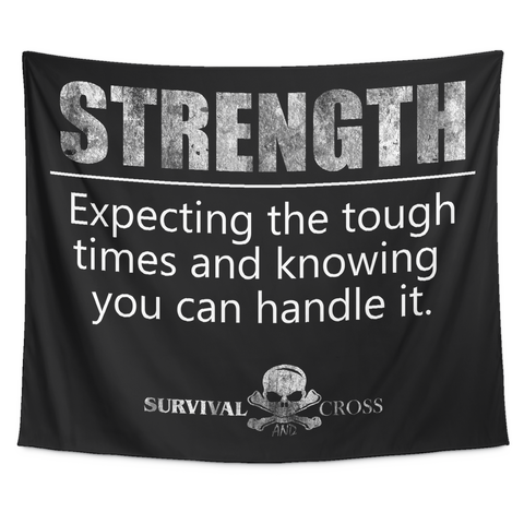 Motivational Gym Tapestry - Strength