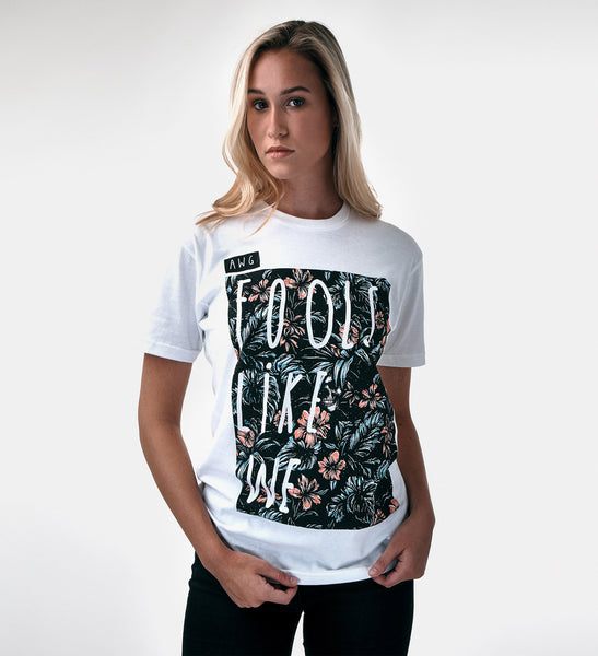 AWG Botanical Fools Like We tee