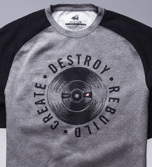 Create Destroy Records Raglan Pullover