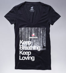 Keep Breathing/Keep Loving Tee