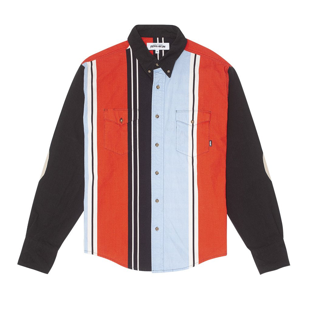 FUCKING AWESOME PRINTED WESTERN SHIRT // BLACK/RED/BLUE/WHITE