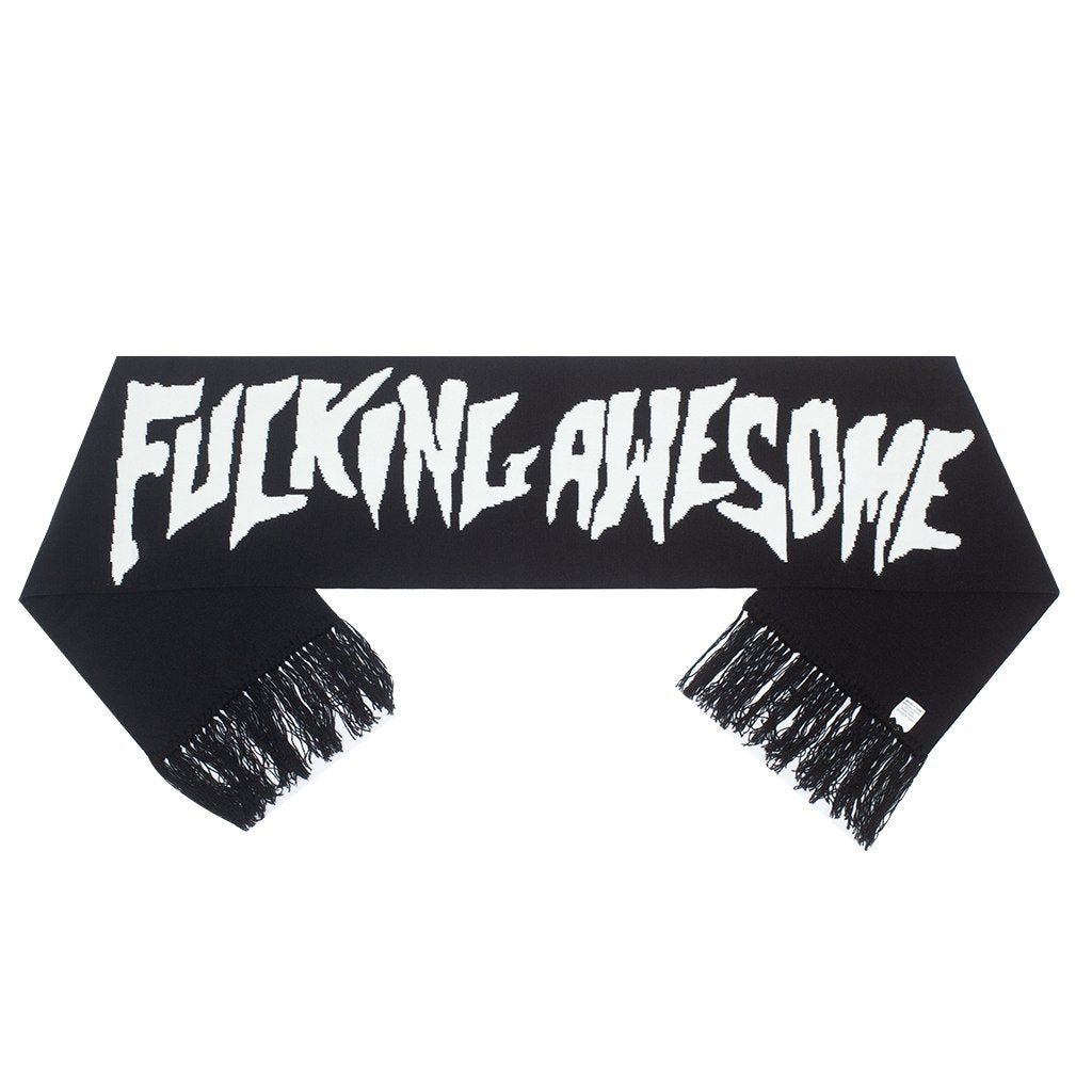 FUCKING AWESOME STAMP SCARF // BLACK