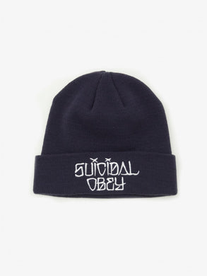 OBEY X SUICIDAL TENDENCIES BEANIE // NAVY