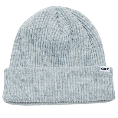 OBEY BOLD BEANIE // HEATHER GREY