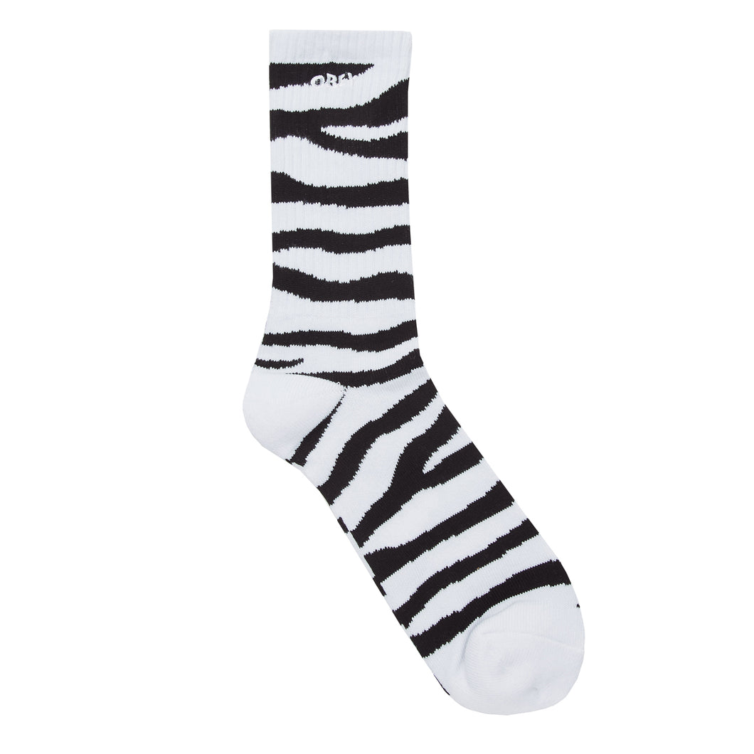 OBEY ZEBRA SOCKS // BLACK MULTI
