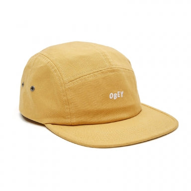 OBEY JUMBLE BAR 5 PANEL HAT // DUSTY YELLOW